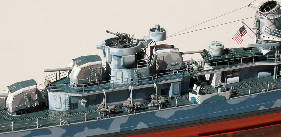 USS Fletcher paper model from Digitalnavy.